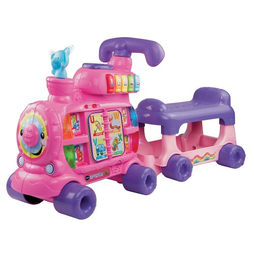 Sit-To-Stand Alphabet Train - Pink
