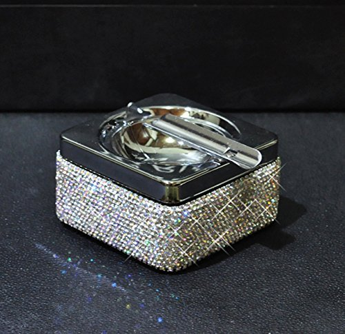 Cheap  TISHAA Bling Bling Luxury Crystal Diamond Ashtray,Cigar Ashtray and Big Cigarette Ashtrays..