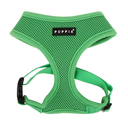 Puppia Soft Dog Harness, Green, Medium