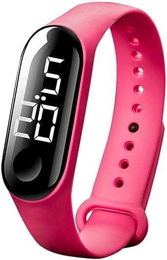Reloj Digital Deportivo táctil e Impermeable para Hombres y Mujeres con Pulsera de Silicona de Colores (Amarillo): Amazon.es: Relojes