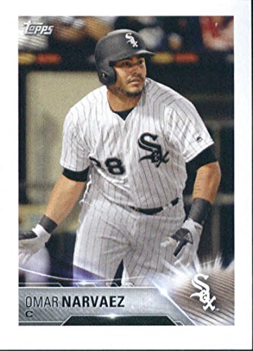 2018 Topps MLB Baseball Sticker Collection #122 Omar Narvaez RC Rookie Chicago White Sox Paper Thin 2 by 3 inch Stickers for Album