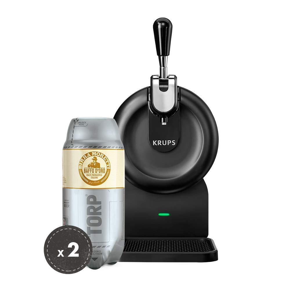 Birra Moretti THE SUB Set Spillatura Domestica | THE SUB Spillatore Birra da Casa, Edizione Compact | 2 x TORP Birra Moretti Fustini di Birra da 2 Litri