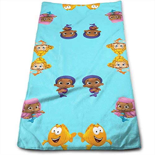 Minsung Bubble Guppies Soft Cotton Large Hand Towel- Multipurpose Bathroom Towels for Hand, Face, Gym and Spa