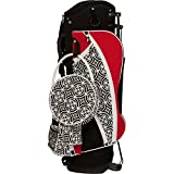 Sassy Caddy Women's Swanky Golf Stand Bag, Cherry Red/Black/White
