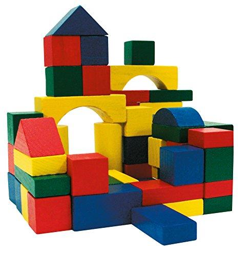 Marionette 871125244025 - Holzbausteine, Holzklötze, 100 Stück