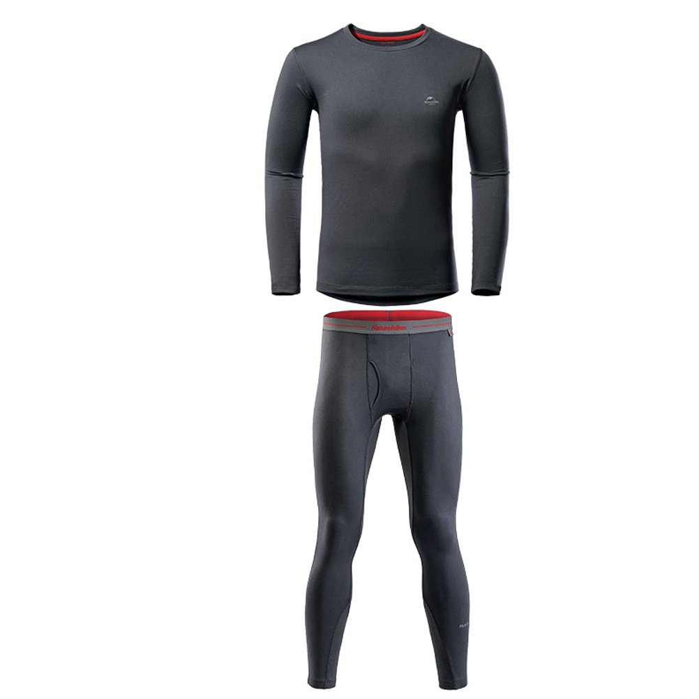 Tentock Unisex Coolmax Quick-drying Polyester Thermal Underwear Set Long Sleeve for Winter Sports Travel