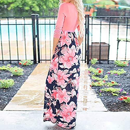 Women Long Gown Summer Beach Sleeveless Sundress Boho Floral Print Dress Maxi Dress by Lowprofile by Lowprofile Dress (Image #2)