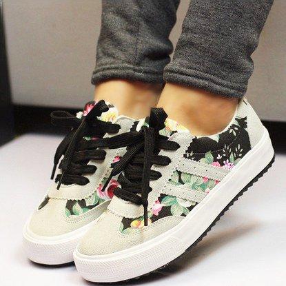 Lona De NGRDX Calzado Zapatos Casual amp;G Zapatos De Mujer Casual Mujer Blac Mujer Impreso Calzado 71Wrvxq7aw
