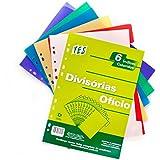 Divisória Plástica para Fichário 6 Projeções Ofício Sortidas Yes
