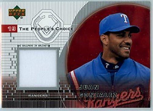 2002 Upper Deck The People/'s Choice Jerseys #PJ-JG Juan Gonzalez Texas Rangers