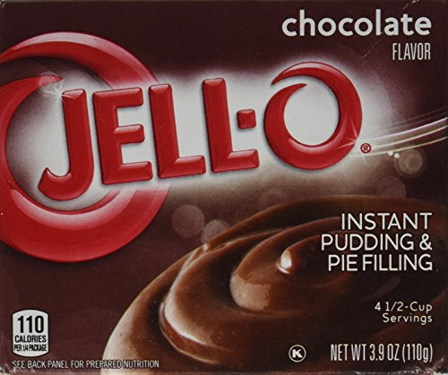 Jell-O Chocolate Instant Pudding & Pie Filling (4-Pack) - Instant Chocolate Pudding