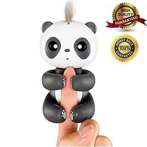 Panda toy,Smart Interactive Electronic Panda for Kids Baby,Christmas Gift (Black)