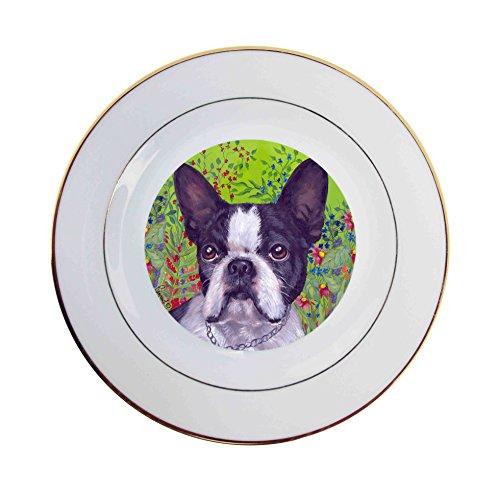 - Boston Terrier Jungle-Ceramic Plate