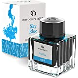 Dryden Fountain Pen Ink Bottle (50 ml) Luxury Edition, (Sky Blue) Fountain Pen Bottled Ink. Compact Designed Bottle (Model: Smooth flow 50ml)