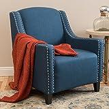 Ellesmere Blue Fabric Studded Club Chair