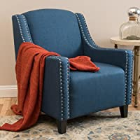 Ellesmere Blue Fabric Studded Club Chair