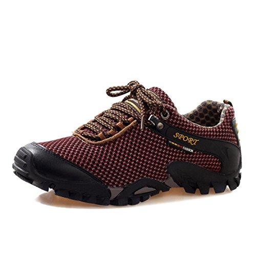 CHT Muchachos Estaciones Deportivas Al Aire Libre Zapatos Para Caminar De La Multicolor Múltiples Dimensiones Red