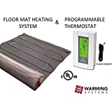 50 sqft mat electric radiant floor heat heating system with aube digital floor sensing thermostat - Electric Radiant Floor Heating