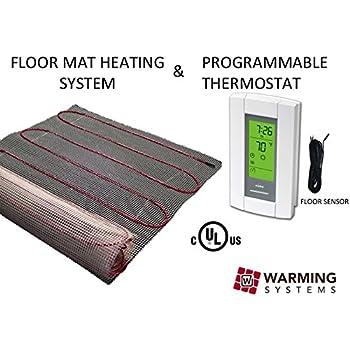 50 Sqft Mat Electric Radiant Floor Heat Heating System With Aube Digital Sensing Thermostat