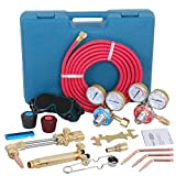 LEMY Gas Welding Cutting Torch Kit Oxy Acetylene Brazing victor type Professional Set w/Hose,Carrying Case