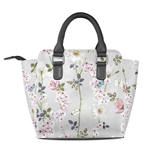 Moda De Hombro Mariposa Bolsos Bolsos Cuero Totalizador Tizorax De Florales De Las Del Mujeres La vIqW6nTwn5