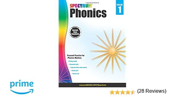 Spectrum Phonics, Grade 1: Spectrum: 0044222239770: Amazon.com: Books