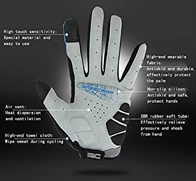 ChezMax Men Women Ventilate Thermal Gloves for Cycling Climbing Skating Skiing