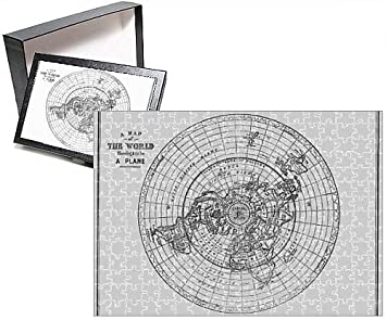 Amazoncom Photo Jigsaw Puzzle of Flat Earth map of the world