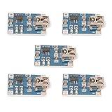 C.J. SHOP 5PCS 5V Lithium Battery Charging TP4056 Board 5 Volt Mini USB 1A Charger Module DIY