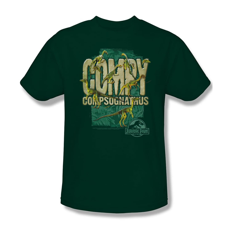Jurassic Park - Mens Compy T-Shirt In Hunter Green