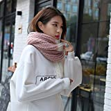 MDRW-Winter Scarf Autumn And Winter Scarf Knitting Color Scarf Lovely Warm Fashion All-Match Female Student Scarf Thickening