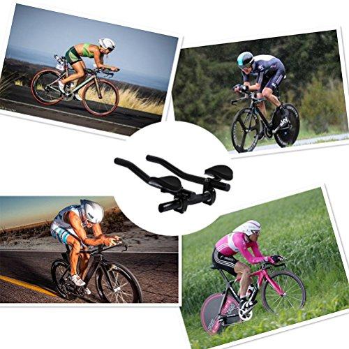 KenEternal Aero Bars Triathlon TT Handlebar, Aluminum Alloy Bike Rest Handlebar for Road Mountain Bike Cycling Race MTB Relax Rest by KenEternal (Image #6)