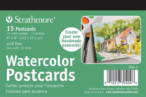 Strathmore Artist Papers Watercolour Postcards Cold Press (4' x 6' or 101mm x 152mm) 704-4