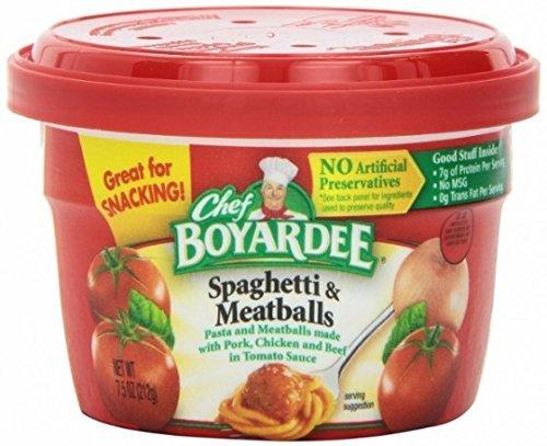 Chef Boyardee Spaghetti and Meat Balls 7.5 Oz Cups ( 6 Pack ) (Meatballs Spaghetti Boyardee Chef)
