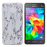 Galaxy Grand Prime Case , TUTUWEN Marble Texture Flexible Soft Silicone Ultra Slim Rubber Back Protective Cover for Samsung Galaxy Grand Prime G530H 5.0 inches