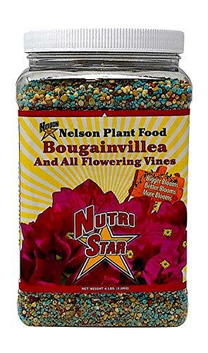 Nelson Plant Food For All Flowering Vines Bougainvillea Trumpet Wisteria Honeysuckles Indoor Outdoor Granular Fertilizer NutriStar 17-7-10 (4 lb) ()