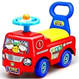 TODDLER INFANT RIDE ON CAR VEHICLE FIRE TRUCK CHILDRENS KIDS PUSH ALONG BOYS GIRLS TOY XMAS GIFT