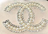 New-Fashion-womens-CC-diamond-rhinestone-Brooch-Brooches-pin-Gift-Silver