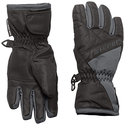 Ziener Jungen Handschuhe Luggi Gloves Junior, Black/Graphite, 5, 151900