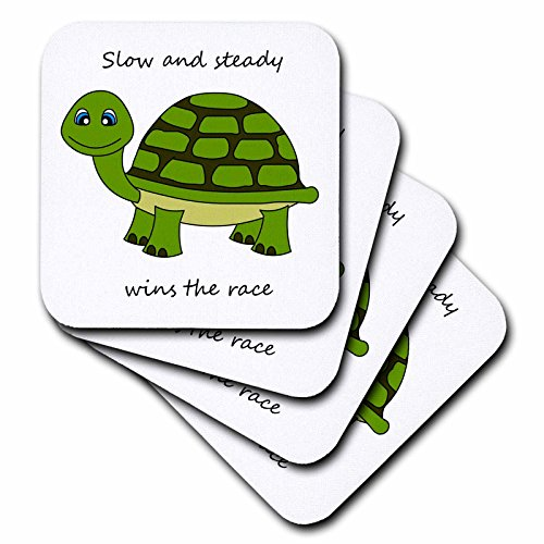 3dRose cst 6106 2 Steady Turtle Coasters