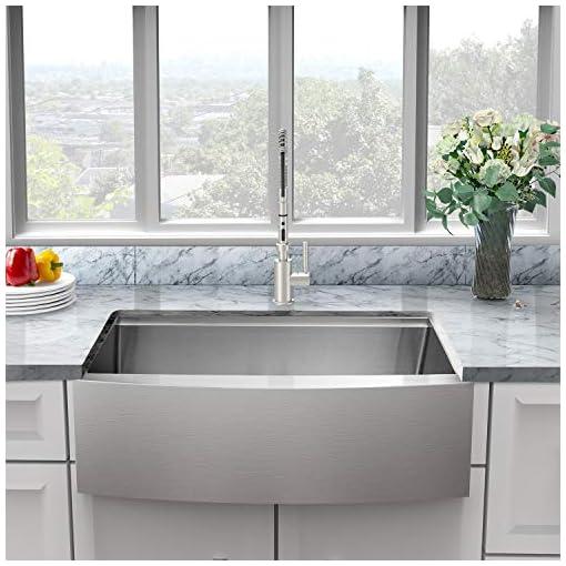 Farmhouse Kitchen 33 Farmhouse Sink – Sarlai 33 Inch Kitchen Sink Ledge Workstation Apron Front Single Bowl 16 Gauge Stainless Steel… farmhouse kitchen sinks