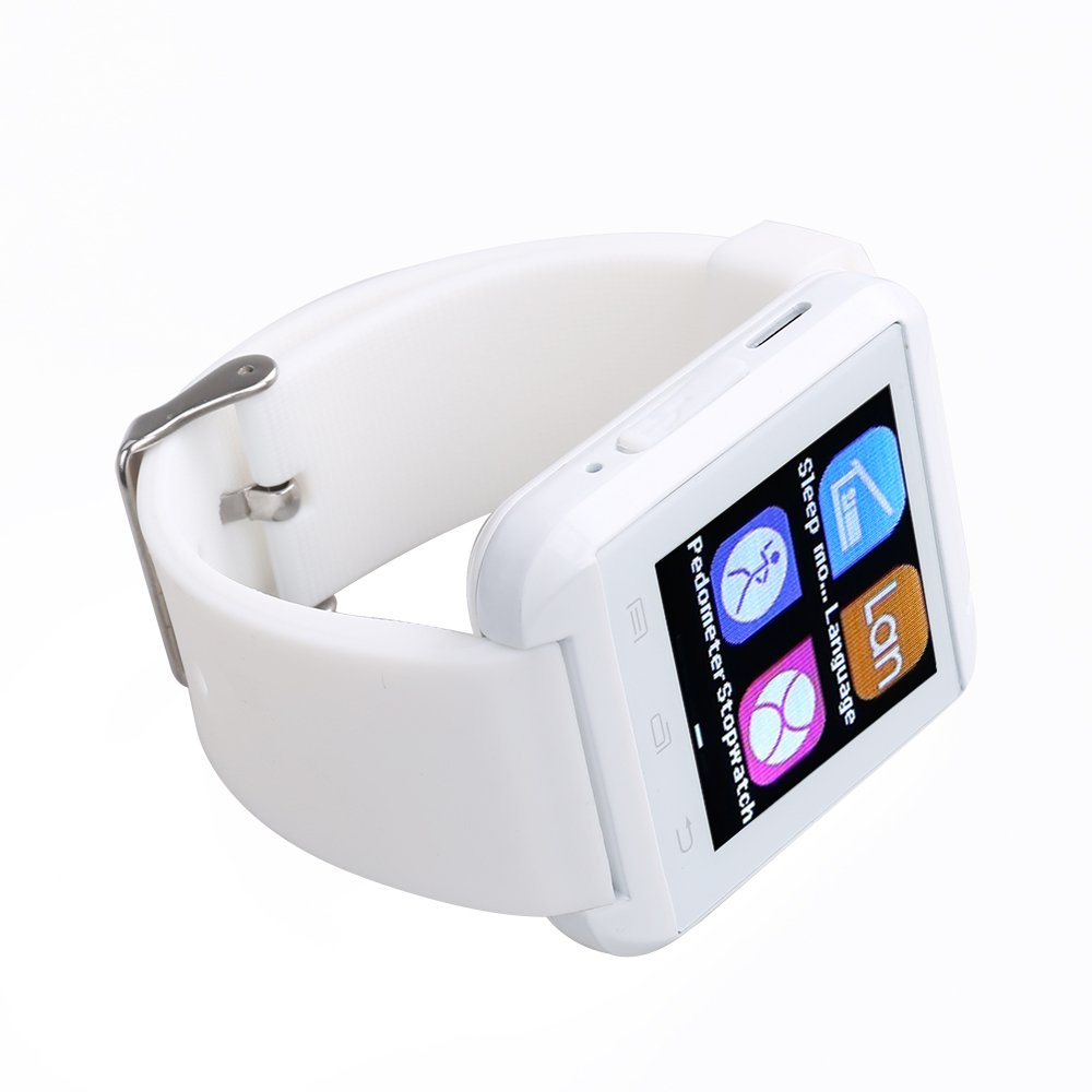 Amazon.com: Flylinktech U8 Plus Smart Watch Bluetooth Watch Phone Touch Screen Watch for Android and IOS Iphone (white): Cell Phones & Accessories
