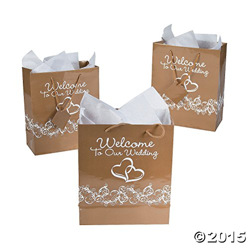 Hearts Welcome Wedding Gift Bags