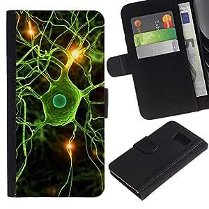 All Phone Most Case / Oferta Especial Cáscara Funda de cuero Monedero Cubierta de proteccion Caso / Wallet Case for Samsung Galaxy S6 // Neural Brain Science Biology