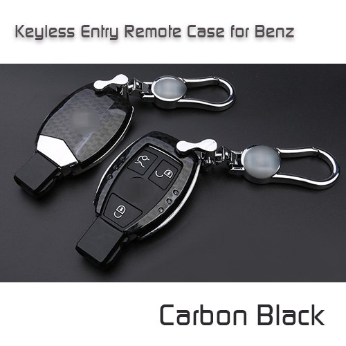 Atonixカーボン& Leopardシリーズ印刷キーレスリモートエントリハードケースホルダーfor Mercedes Benz ブラック ATO_Carbon Keyfob_Benz_Black B074MH2ZSH Black Carbon Black Carbon