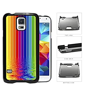 Rainbow Colored Art Painting Of Rippled River Hard Plastic Snap On Cell Phone Case Samsung Galaxy S5 SM-G900