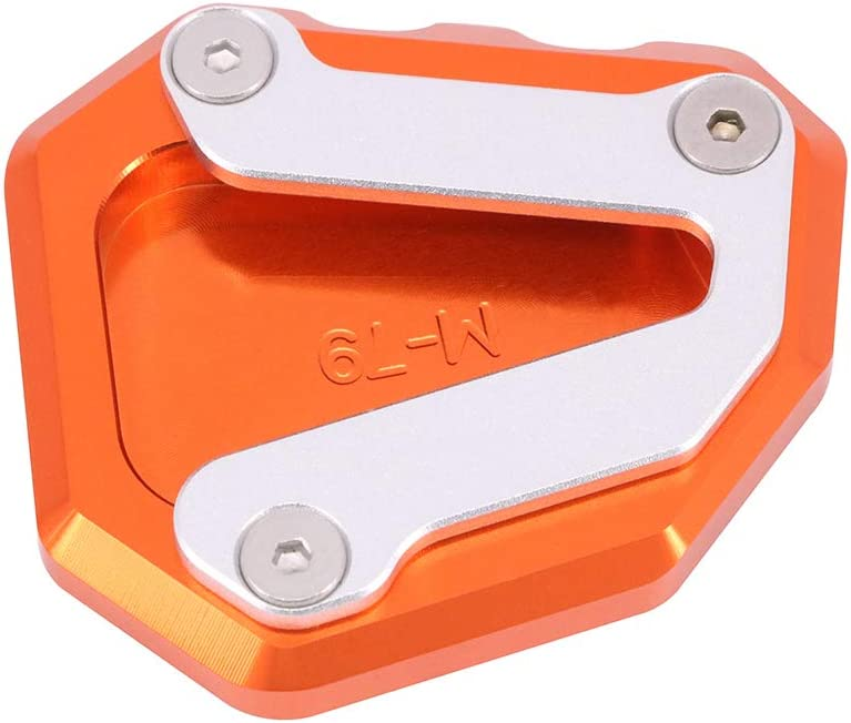 AnXin Motorcycle Side Stand Kickstand Extension Foot Plate Pad CNC For K.T.M Duke 790 All Years Orange