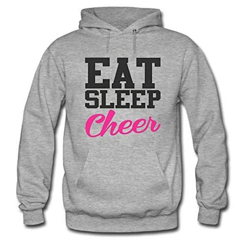 Nice EAT SLEEP CHEER Women's Long Sleeve Cotton Hoodie