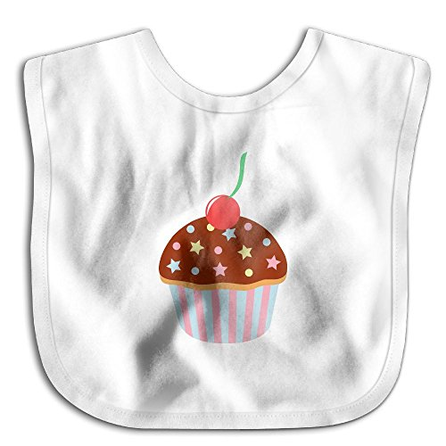 Fashion Cupcake Chocolate Sprinkles Cherry Toddler Bibs Comfortable Soft Cute Baby Bib For Toddlers