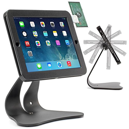 Thought Out EnCloz iPad 9.7 POS Stand Anti-Theft Security Flip Signature (iPad 9.7 Pro, 5g, iPad Air 2,1) - Black